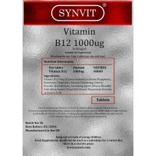 Vitamin B-12 1000ug high strength - B12