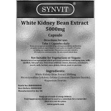 White Kidney Bean Extract 5000mg Capsules
